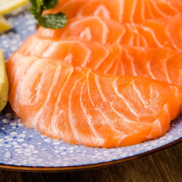 冰鲜三文鱼刺身 日式厚切 400-500g