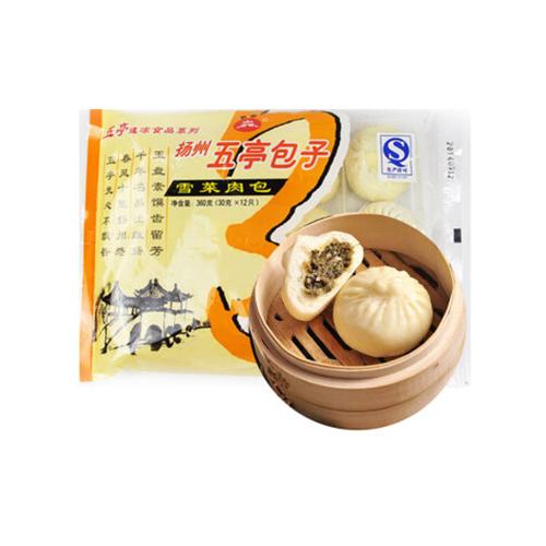 扬州五亭雪菜肉包