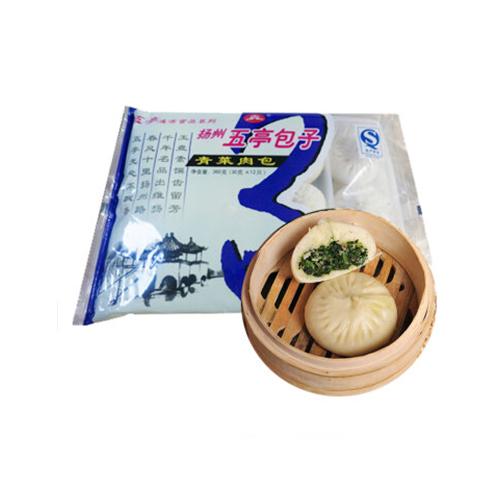 扬州五亭青菜肉包