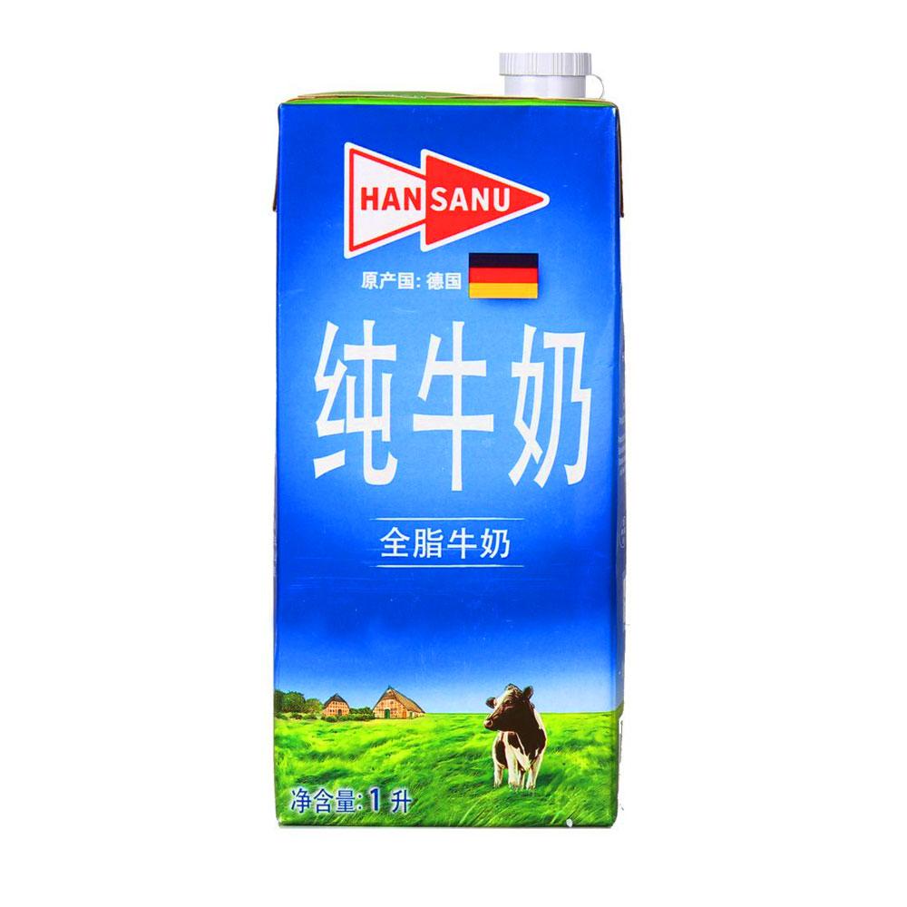 德悠全脂牛奶
