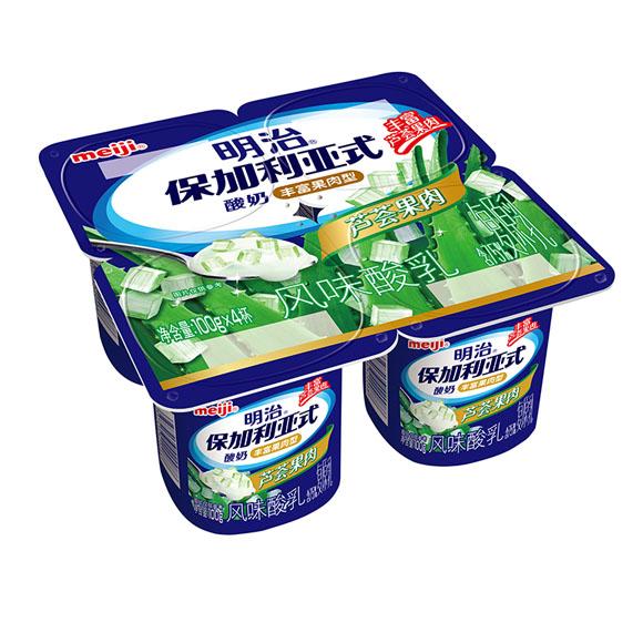 明治保加利亚式酸奶顺滑柔和型芦荟果肉