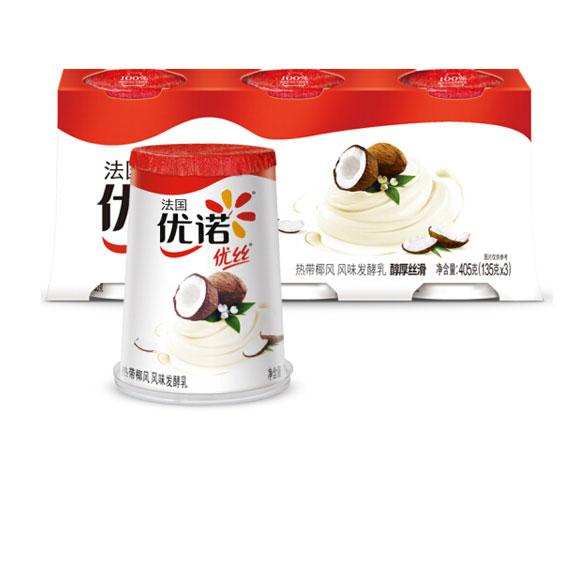 优诺 优丝 热带椰风 135g*3   酸奶酸牛奶风味发酵乳