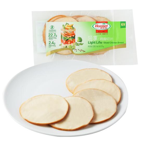 荷美尔(Hormel)轻享鸡胸切片120g/袋 冷藏熟食 鸡胸片 高蛋白鸡肉 色拉食材 早餐食材(3件起售)