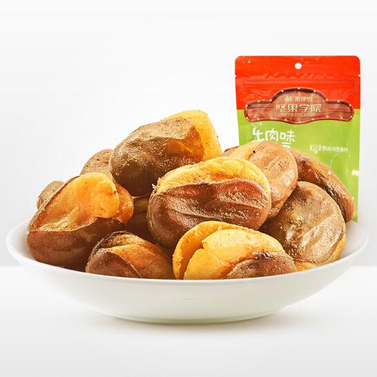 来伊份 牛肉味兰花豆 蟹香豆瓣蚕豆食品多味花生零食小吃205g/袋