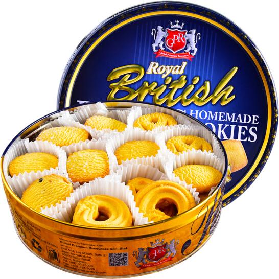 馬來西亞進口 GPR黃油曲奇餅干禮盒 鐵罐裝 兒童休閑零食糕點心340g