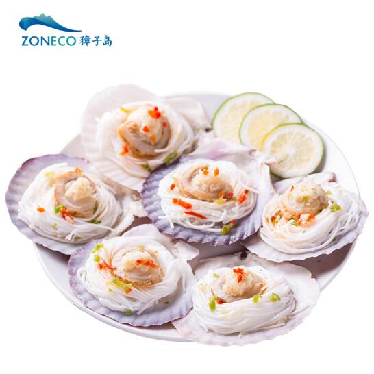 獐子岛 冷冻蒜蓉粉丝扇贝(MSC认证)400g 12只 虾夷扇贝 烧烤食材 自营海鲜水产