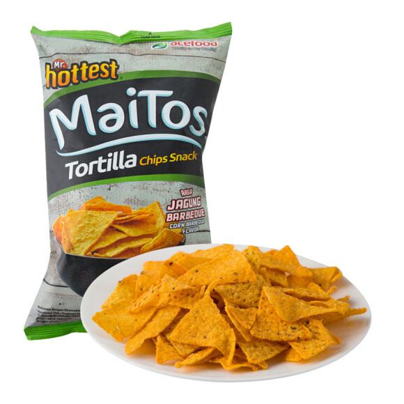 印度尼西亚进口 MaiTos 烧烤味玉米片 140g 零食 休闲食品