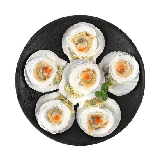 貝哥 冷凍蒜蓉粉絲扇貝 200g 6只 袋裝 海鮮水產 燒烤食材