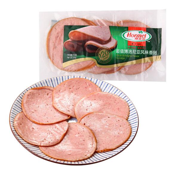 荷美尔(Hormel)博洛尼亚风味香肠150g/袋 冷藏熟食 早餐 三明治手抓饼 烧烤食材(2件起售)