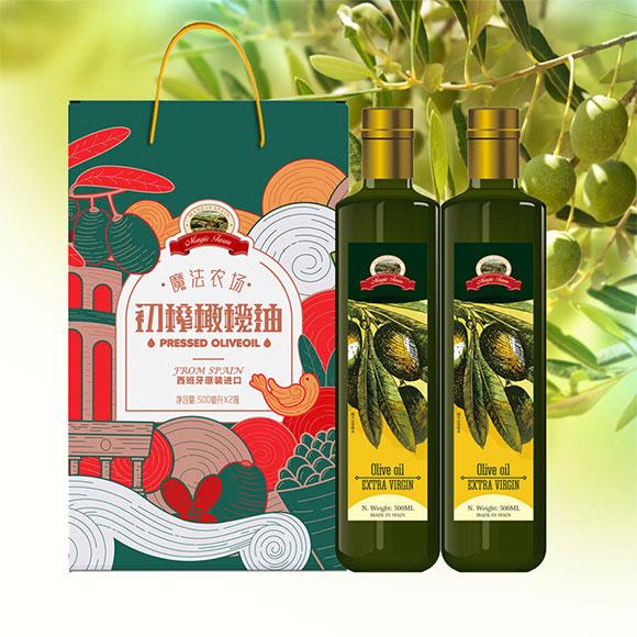 魔法农场特级初榨橄榄油500ml*2礼盒