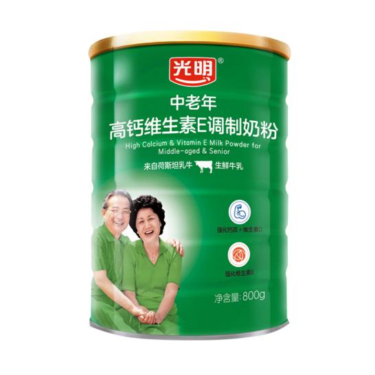 光明中老年高钙维生素E调制奶粉(罐装)