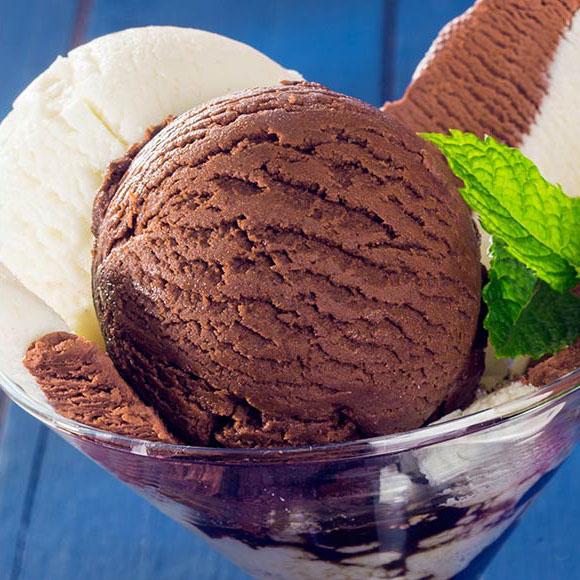 新西兰进口凯蓓蒂冰淇淋组合装(香浓巧克力1L+香草味1L)