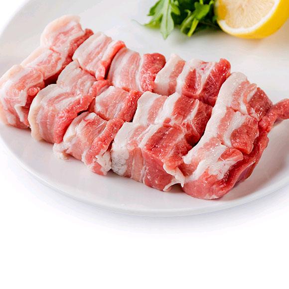 海南黑毛猪带皮五花肉