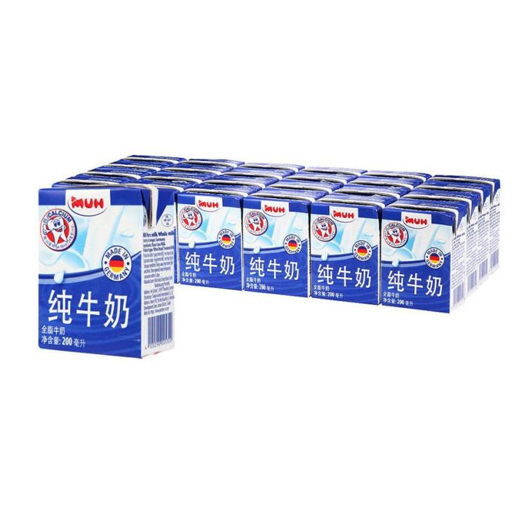 甘蒂牧场 全脂纯牛奶整箱200ML*24