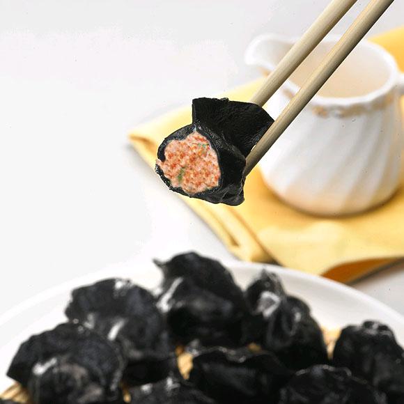 墨鱼汁猪肉荠菜水饺