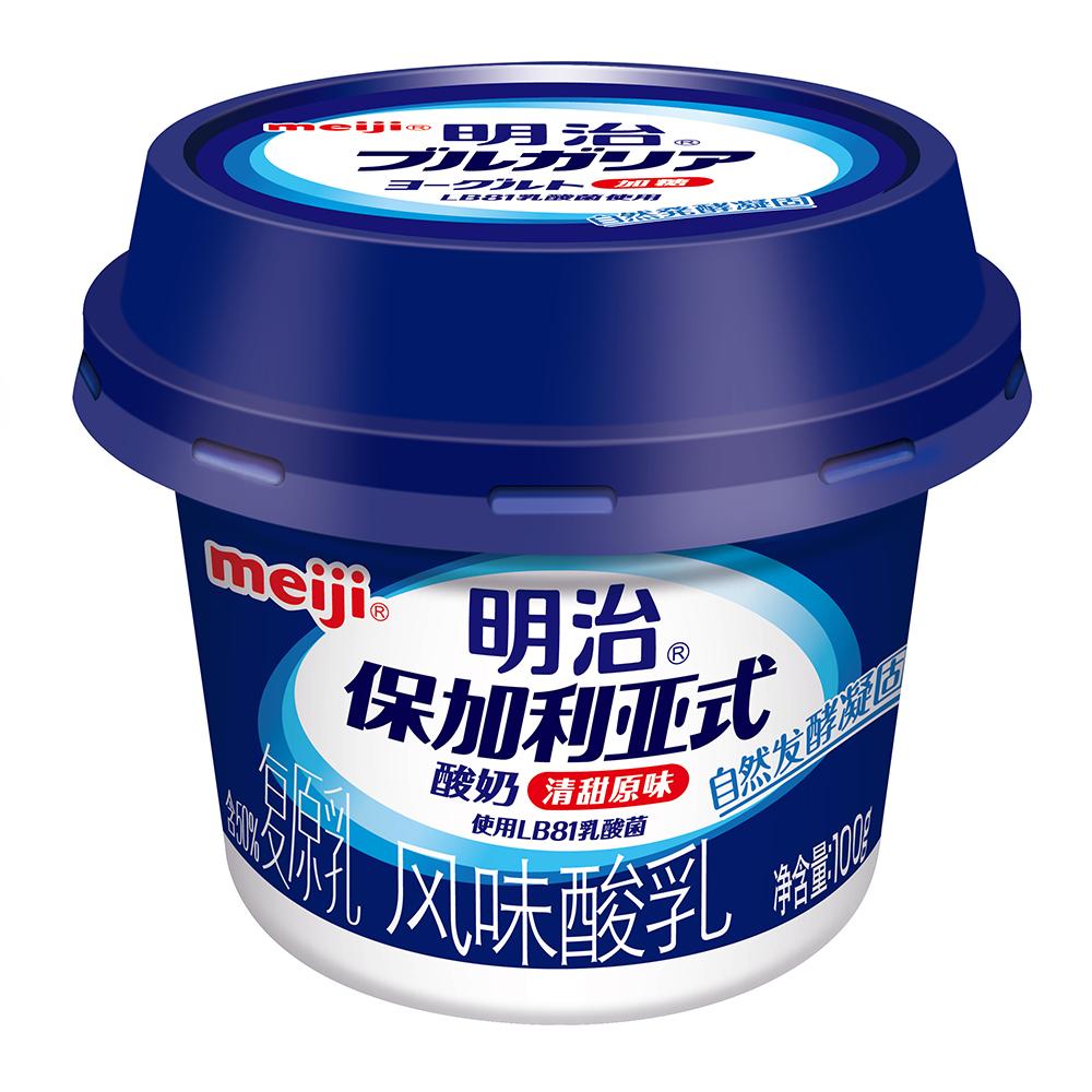 明治保加利亚式酸奶清甜原味100克*4