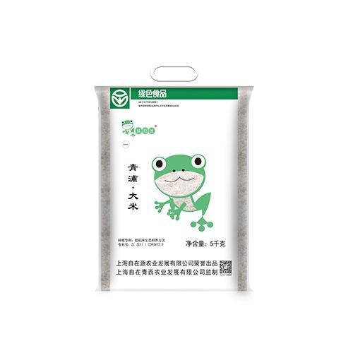青浦绿色蛙稻米500