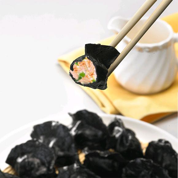 墨鱼汁三鲜水饺