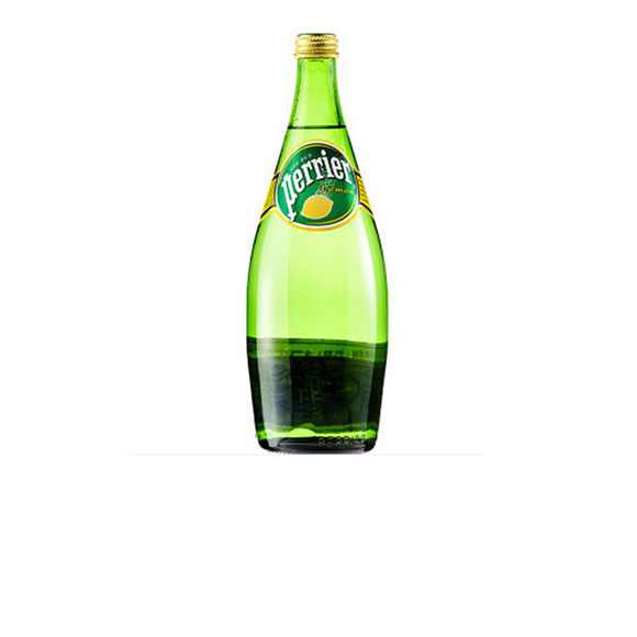 Perrier法国【巴黎】 含气柠檬味天然矿泉水 (750mL*12)