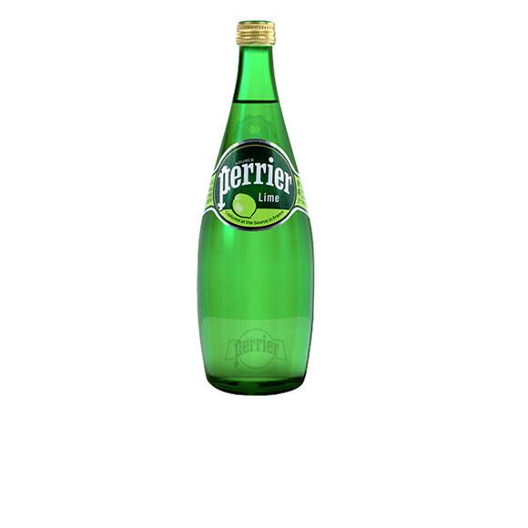 Perrier法国【巴黎】 含气天青柠味然矿泉水 (750mL*12)