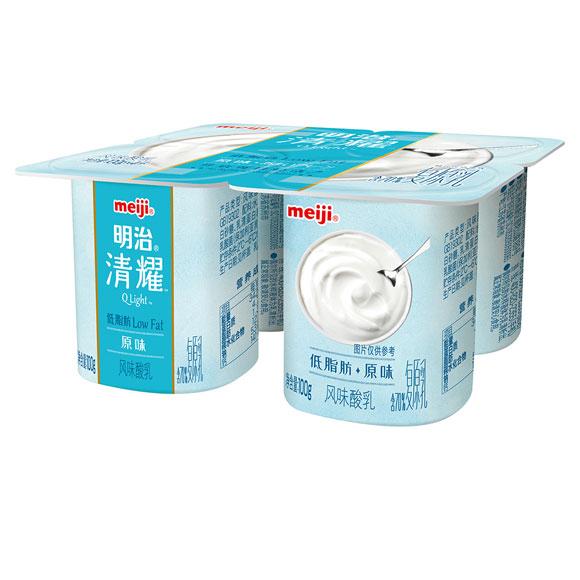 明治清耀酸奶原味 100g*4