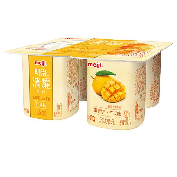 明治清耀酸奶芒果味 100*4