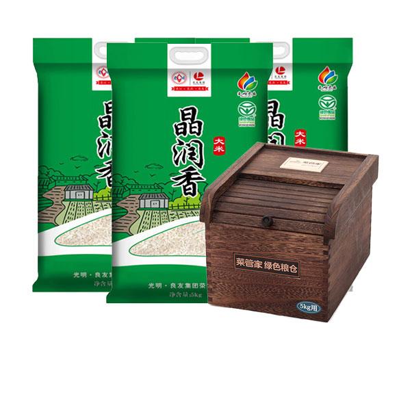 晶润香大米5kg*3(赠米箱)