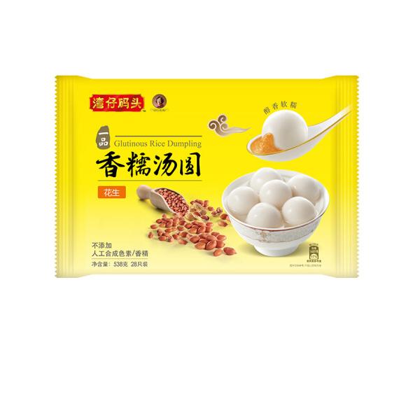 湾仔码头 香糯汤圆 花生口味 538g  28只 早餐 火锅食材