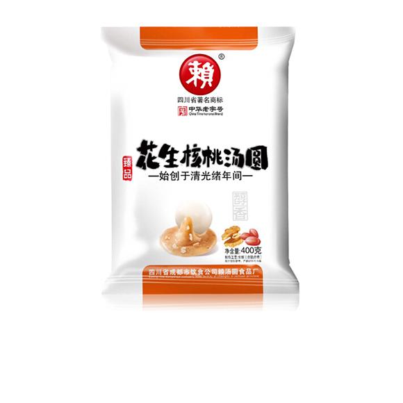 赖 汤圆 醇香 花生核桃口味 400g (20只 四川小吃 元宵)