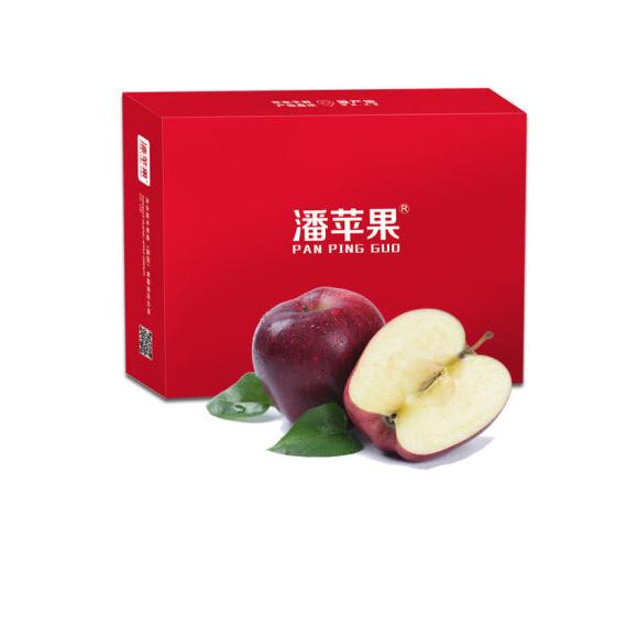 潘苹果 甘肃天水花牛苹果/蛇果 12个 单果180g-240g 净重4.5斤 新鲜水果