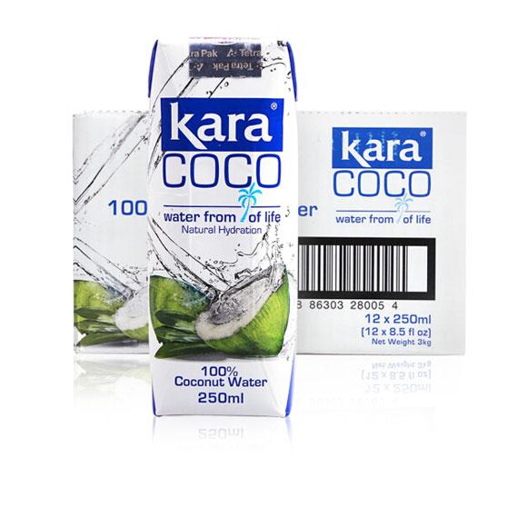 印尼进口 【整箱】佳乐(kara)椰子水 250ml*12 青椰子汁 椰汁饮料