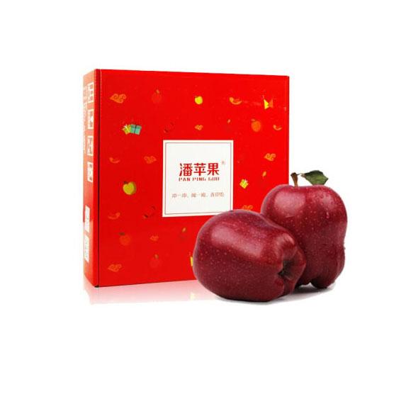 潘苹果 甘肃天水花牛苹果 9个装 单果210-240g 净重2kg 新鲜水果
