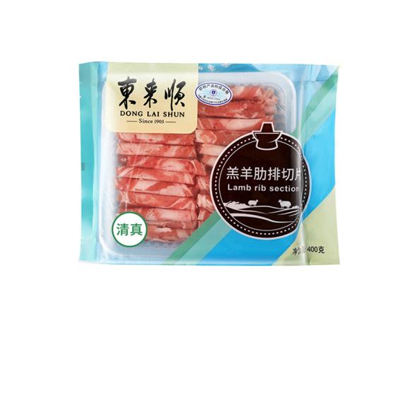 東來順 草原羔羊原切肋排羊肉片 400g/袋 精選肋排肉 火鍋食材