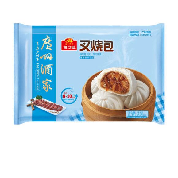 广州酒家利口福 叉烧包 750g  20个 早餐 方便菜 包子 早茶点心