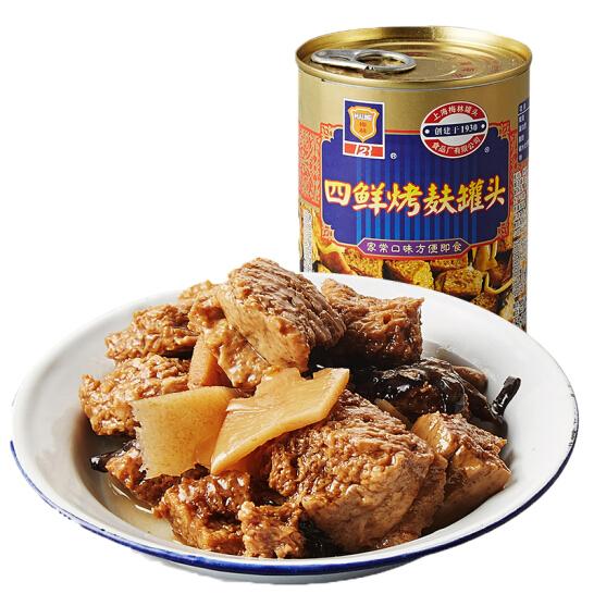 上海梅林 四鮮烤麩罐頭 下飯菜354g 中華老字號
