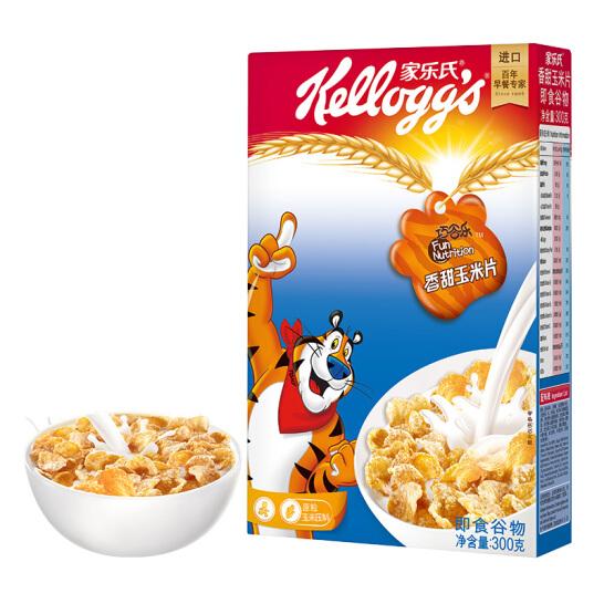 泰國進口 家樂氏(Kellogg's)香甜玉米片 進口麥片 即食沖飲 營養谷物早餐300g