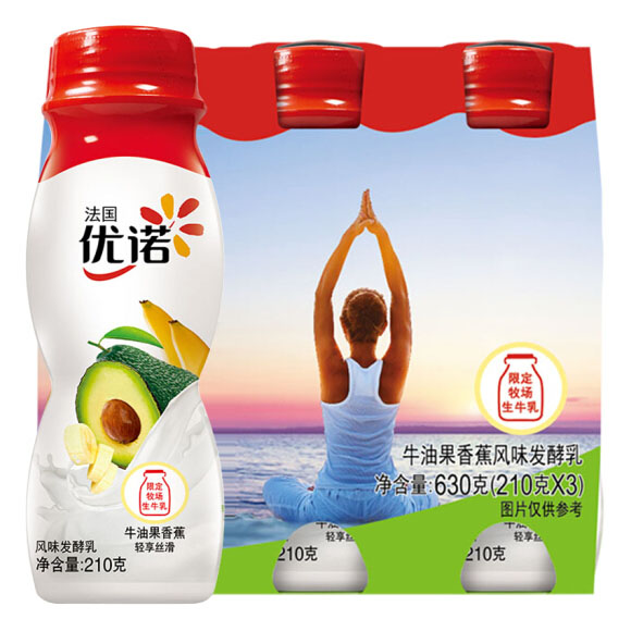 优诺 牛油果香蕉  210g*3  酸奶酸牛奶