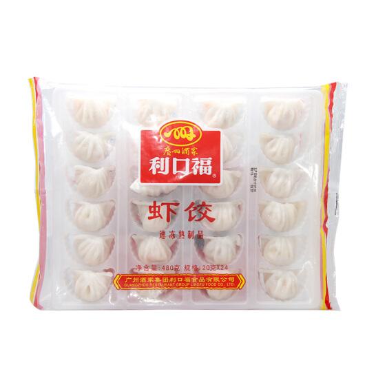 广州酒家利口福 虾饺 480g 早餐 火锅食材 方便菜 饺子 早茶点心