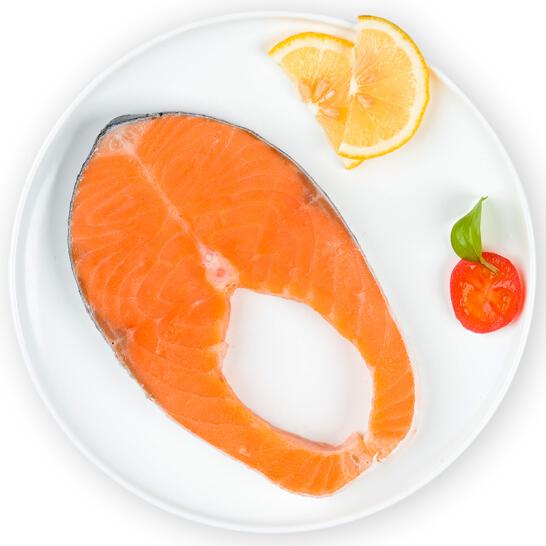 我愛漁 冷凍智利三文魚圓切(大西洋鮭) 300g 2-3塊 袋裝 自營海鮮水產