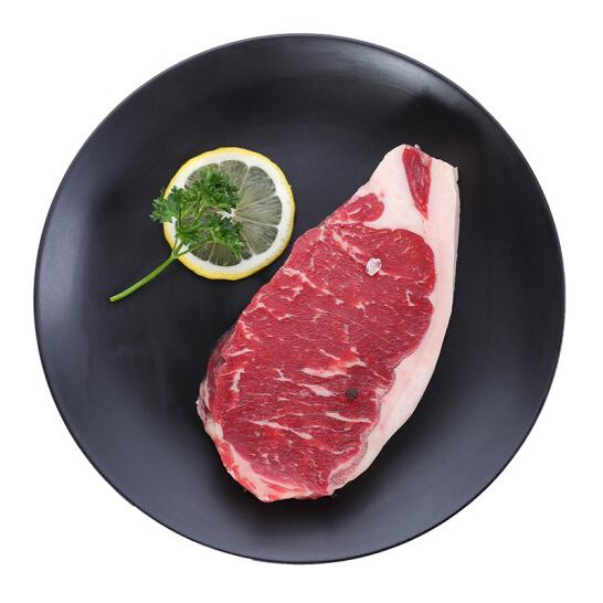 京觅·全球 澳洲谷饲安格斯西冷牛排 200g 原切牛排 烧烤 烤肉 生鲜牛肉
