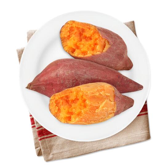 福建六鳌红薯 蜜薯  地瓜 2.5kg  红蜜薯 单果重约150g-500g  新鲜蔬菜 蔬菜礼盒