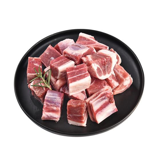 西鲜记 盐池滩羊 羔羊带骨肉块500g/袋 180宁夏羔羊肉 无膻味 无添加生鲜食材 烧烤 炖煮 地理标识产品