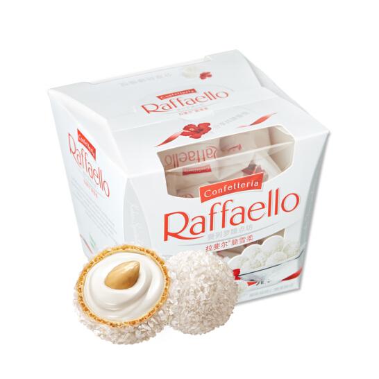 費列羅(Ferrero Raffaello)拉斐爾椰蓉扁桃仁糖果巧克力 員工福利 15粒禮盒裝150g