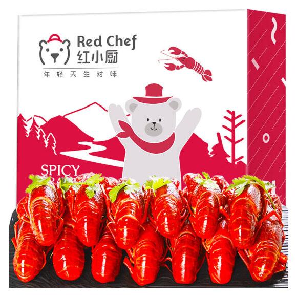 星農聯合紅小廚 麻辣小龍蝦1.5kg 4-6錢/25-38只 凈蝦750g 火鍋食材 海鮮水產