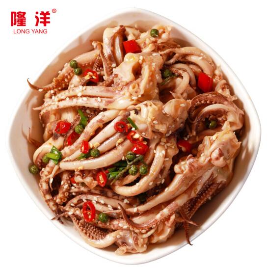 隆洋 國產麻辣魷魚頭 250g 盒裝 麻辣鮮香 出口日本 生鮮 魷魚 海鮮水產
