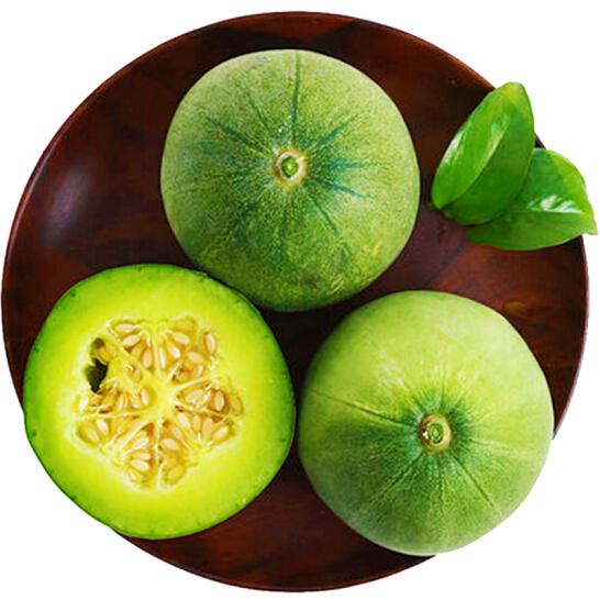 绿宝香瓜 4粒装 单果300g以上 新鲜水果