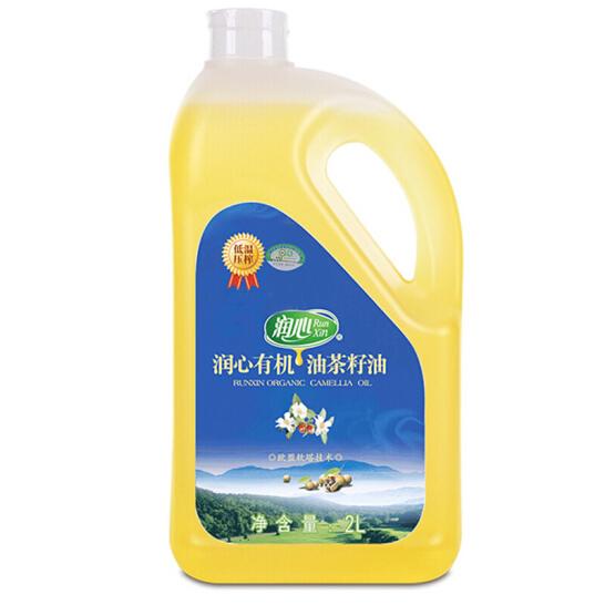 润心 有机油茶籽油2L 食用油 低温冷榨 山茶油 餐饮用油 新老包装更替