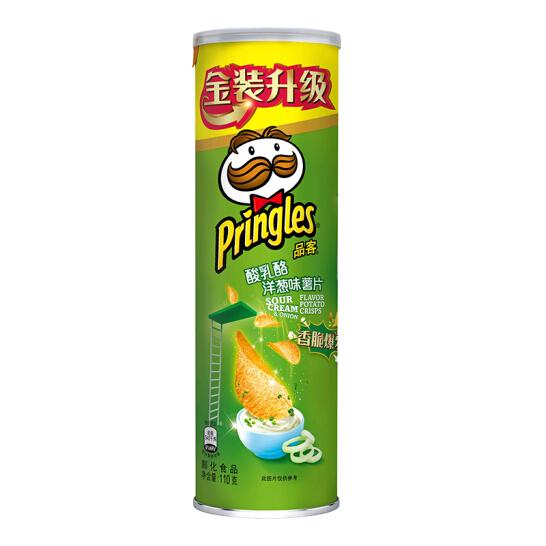 品客(Pringles)薯片酸乳酪洋葱味110g(新老包装随机发货)