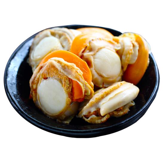 贝哥 冻煮裙边扇贝(去内脏) 250g 25-35粒 袋装
