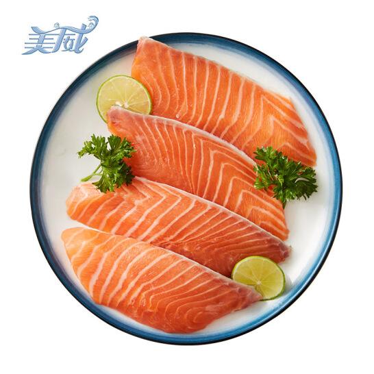 美威 智利原味三文鱼排(大西洋鲑)240g/袋 4片 含Ω3 BAP认证 智利自有渔场直供 生鲜 海鲜水产